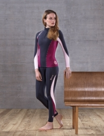 SKINS DNAmic Thermal Women's Compression Long Sleeve Top Mock Neck & Zip and Long Tights