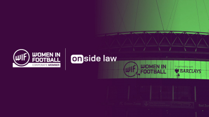 Onside Law has joined as an official Corporate Member of Women in Football (WIF)