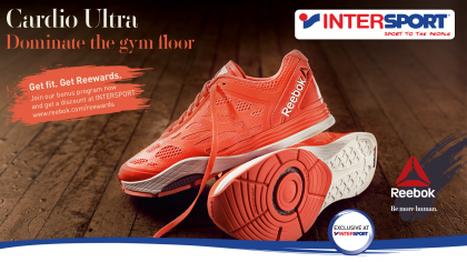 INTERSPORT Exclusive with Reebok Cardio Ultra