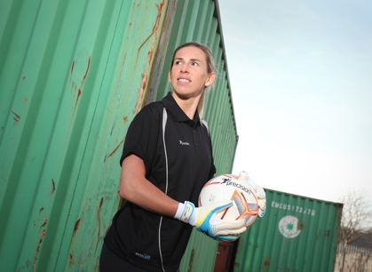 Carly Telford launches first women s only goalkeeping gloves ... dccc14c4a3