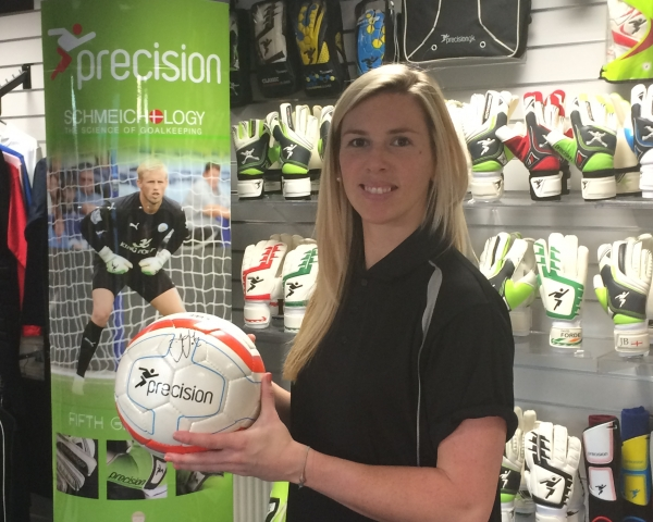 England Ladies Keeper Telford Signs for Precision