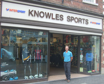 Rick Knowles runs Knowles of Worcester, the oldest family-run sports shop in the UK