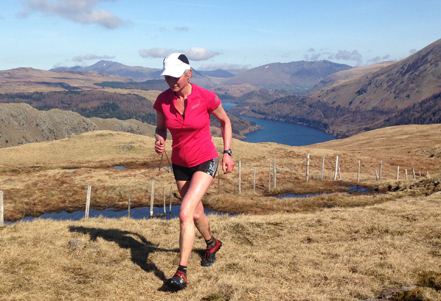 When Nicky Spinks isnt farming, she runs up mountains