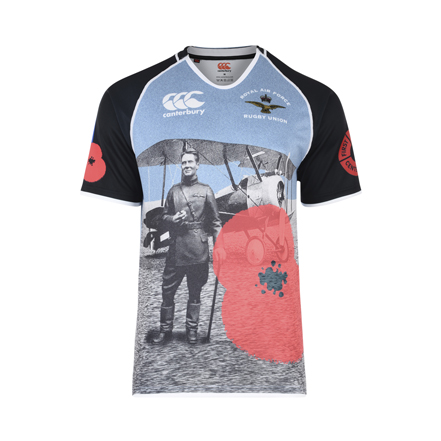 Canterbury and RAF Rugby Union unveil limited edition WW1 commemorative shirt
