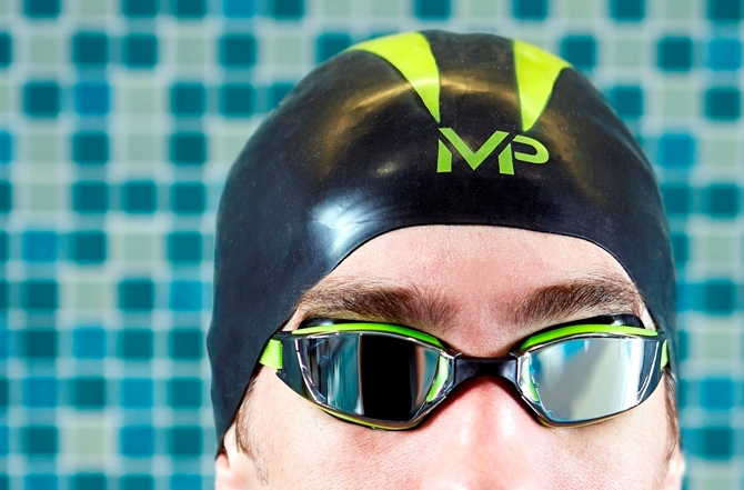 MP Michael Phelps Brand and Aqua Sphere Launch X-O Swimming Cap ... ee793880d
